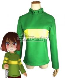 Undertale Frisk Green Cosplay Costume