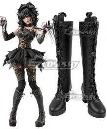 Edward Scissorhands Horror Female Halloween Black Shoes Cosplay Boots