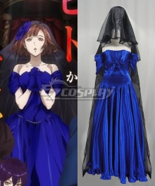 Dance With Devils Ritsuka Tachibana Blue Wedding Dress Cosplay Costume