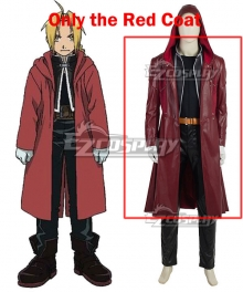 Fullmetal Alchemist Edward Elric Cosplay Costume - Only the Red Coat