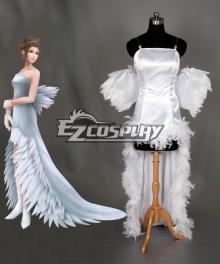 Final Fantasy X FF10 Yuna Wedding Dress Cosplay Costume