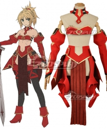 Fate Apocrypha Saber of Red Mordred Battle Suit Cosplay Costume