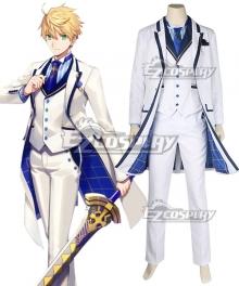 Fate Grand Order Prototype Arthur Pendragon White Rose Cosplay Costume