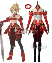 Fate Apocrypha Fate Grand Order FGO Saber Mordred Cosplay Costume