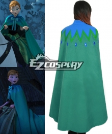 Frozen Anna's Green Cape on Elsa's Coronation Day