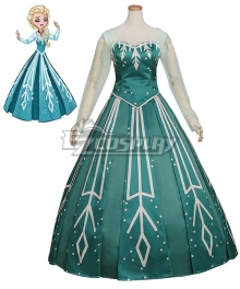 Disney Frozen Elsa Ball Gown  Cosplay Costume