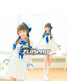 Wadanohara White Sailor Suit Cosplay Costume