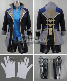 God Eater 2 Protagonist Male Blue Cosplay Costume
