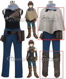 Grimgar of Fantasy and Ash Haruhiro Cosplay Costume - Only Cloak, Breastplate, Gloves, Belt, Waist Bag and Leg wear