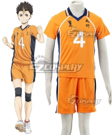 Haikyu!! Haikyuu!! Karasuno High School Yu Nishinoya Orange Cosplay Costume