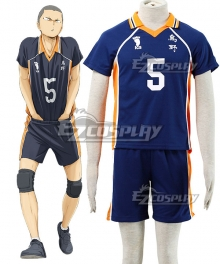 Haikyu!! Haikyuu!! Karasuno High School Ryunosuke Tanaka Royal Blue Cosplay Costume