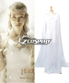 The Lord of the Rings Hobbit Galadriel Cosplay Costume