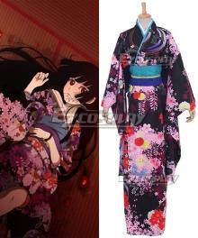 Hell Girl Enma Ai Kimono Dress Cosplay Costume