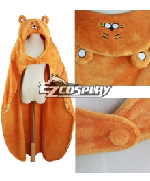 Himouto! Umaru-chan Umaru Doma Orange Cloak Hooded Fleece Blanket Cosplay Costume
