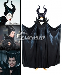 Maleficent Disney Movie Black Witch Angelina Jolie Cosplay Costume-Deluxe Ver.