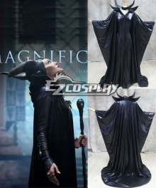 Maleficent Disney Movie Black Witch Angelina Jolie Cosplay Costume-Standard Ver.
