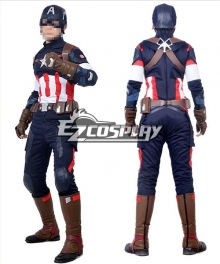 Marvel Avengers: Age of Ultron Captain America Steve Rogers Cosplay Costume
