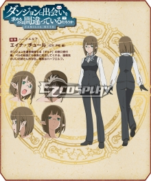 DanMachi Is It Wrong to Try to Pick Up Girls in a Dungeon? Eina Churu Cosplay Costume