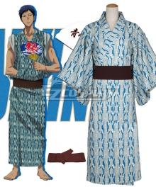 Kuroko's Basketball Kagami Taiga Kimono Bath Robe Blue Cosplay Costume