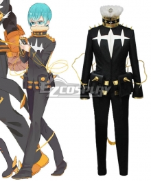Kill la Kill Houka Inumuta Cosplay Costume in Black and Gold
