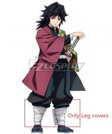Demon Slayer: Kimetsu No Yaiba Giyuu Tomioka Cosplay Costume - Only Black Top, Leg covers