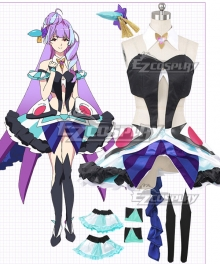 Macross Delta Macross Δ Mikumo Guynemer Purple Cosplay Costume
