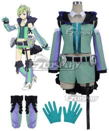 Macross Delta Macross Δ Reina Prowler Green Cosplay Costume
