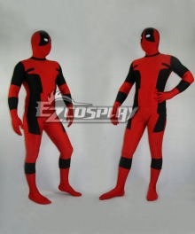 Marvel Halloween Classic Red & Black Deadpool Spandex Deadpool Costume