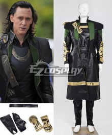 Marvel The Avengers The Dark World Loki Cosplay Costume