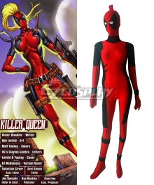 Marvel Female Deadpool Killer Queen Women Zentai Cosplay Costume