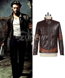 Marvel X-men Wolverine Logan Huge Jackman Leather Jacket Cosplay Costume - Only Coat