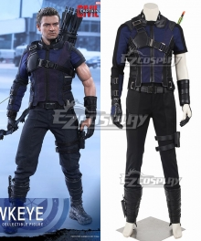 Marvel Captain America Civil War Hawkeye Clinton Francis Barton Blue Cosplay Costume