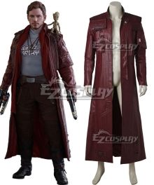 Marvel Guardians of the Galaxy Vol. 2 Movie Star-Lord Peter Jason Quill Coat Cosplay Costume