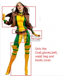 Marvel The Avengers Annual X-Men X Men Rogue Anna Marie Cosplay Costume - WITHOUT Jumpsuit