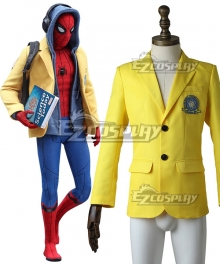 Marvel Spiderman Spider-Man:Homecoming Spider-man Superhero Peter Parker Coat Cosplay Costume