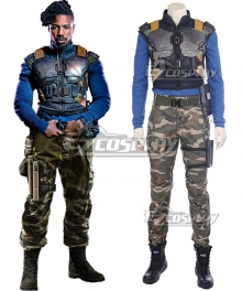Marvel Movie Black Panther 2018 Erik Killmonger Cosplay Costume