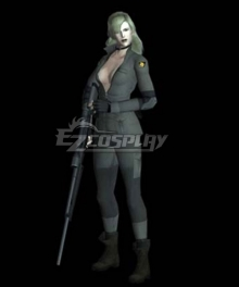 Metal Gear Sniper Wolf Army Green Cosplay Costume