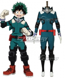 My Hero Academia Boku No Hero Akademia Izuku Midoriya Deku Battle Suit Cosplay Costume