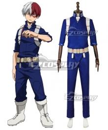 My Hero Academia Boku No Hero Akademia Shoto Todoroki Battle Suit Cosplay Costume - B Edition