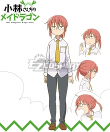 Miss Kobayashi's Dragon Maid Kobayashi Cosplay Costume