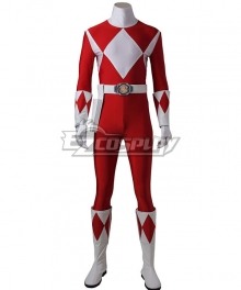 Mighty Morphin' Power Rangers Geki Tyranno Ranger Cosplay Costume - Including Boots