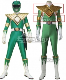 Mighty Morphin Power Rangers Green Ranger Cosplay Costume - Only Chest armour and Arms bands