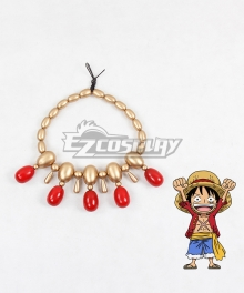 One Piece Monkey D Luffy Necklace Cosplay Accessory Prop