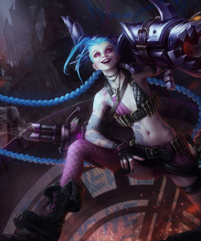 League of Legends Loose Cannon Jinx Stocking Cosplay Accessory
