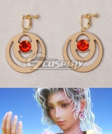 Final Fantasy Terra Branford Golden Earrings Cosplay Accessory Prop