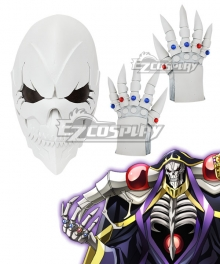 Overlord Ainz Ooal Gown A.K.A Momonga Mask Gloves Cosplay Accessory Prop