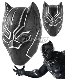 Marvel Captain America: Civil War Black Panther T'Challa Helmet Cosplay Accessory Prop - ENA0216