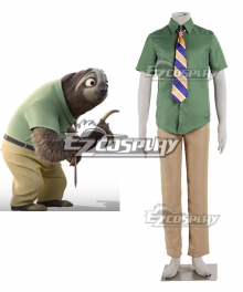 Disney Zootopia / Zootropolis Flash Cosplay Costume