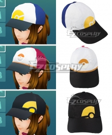Pokémon GO Pokemon Pocket Monster Trainer Female Blue Red Black Hat Cosplay Accessory Prop