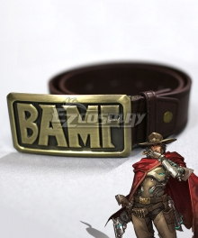 Overwatch OW Jesse McCree Metal Belt Cosplay Accessory Prop